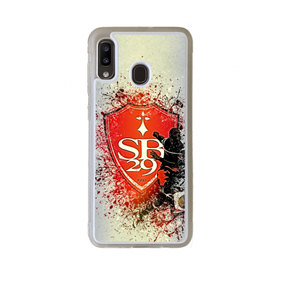 Coque silicone Iphone 6/6S Fan de Rugby Racing 92 Géometrics
