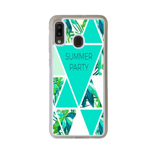 Coque silicone Iphone 6/6S verre Trempé Fan de Rugby Racing 92 Géometrics