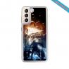Coque silicone gravure sur bois  Harley davidson Matières:Silicone et bois bambou
