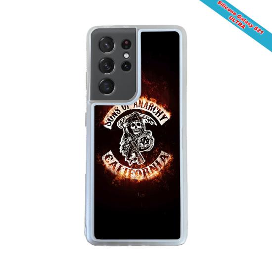 Coque silicone Galaxy A40S Fan de Rugby Brive Obsidienne