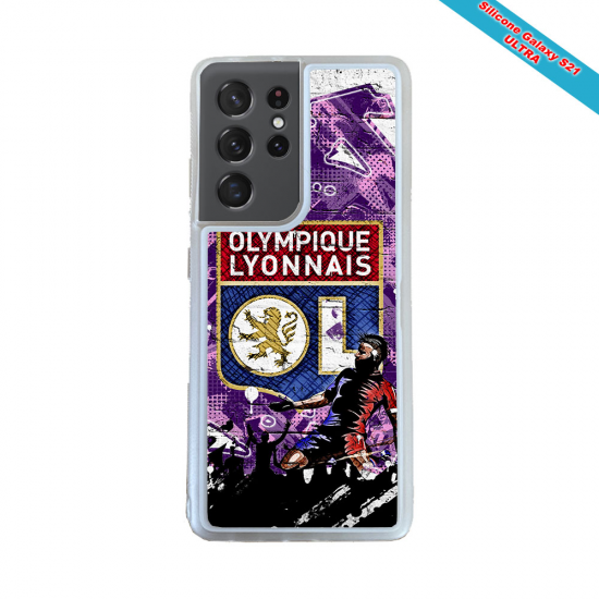 Coque silicone Galaxy A40S Fan de Rugby Clermont Obsidienne