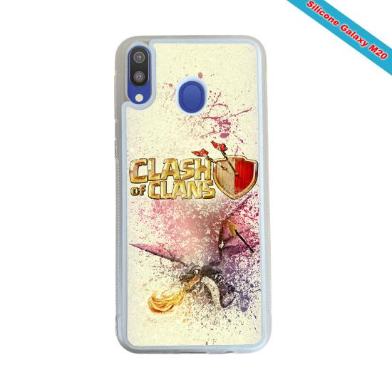 Coque silicone Galaxy A40S Fan de Rugby Agen Super héro