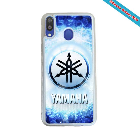 Coque silicone Galaxy M30 Fan de Rugby Agen Super héro