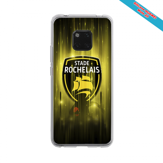 Coque silicone Galaxy A10 Fan de Rugby Pau Super héro
