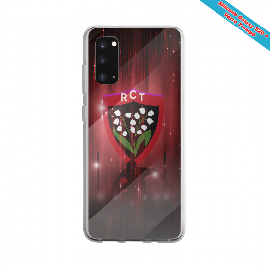 Coque silicone Iphone 11 Pro Max Fan de Rugby Racing 92 Super héro
