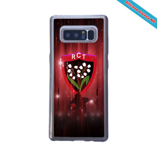 Coque silicone Iphone 12 PRO Fan de Rugby Racing 92 Super héro