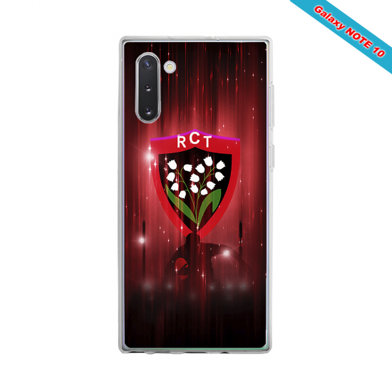 Coque silicone Galaxy A10 Fan de Rugby Racing 92 Super héro