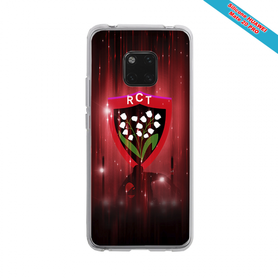 Coque silicone Galaxy A30S Fan de Rugby Racing 92 Super héro
