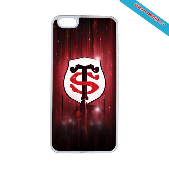 Coque Silicone Galaxy S6 EDGE Fan de Rugby Racing 92 Super héro