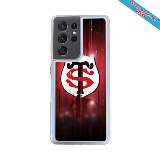 Coque silicone Galaxy A10 Fan de Rugby La Rochelle Super héro