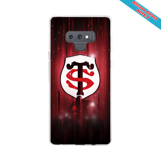 Coque silicone Galaxy A20-A30 Fan de Rugby La Rochelle Super héro