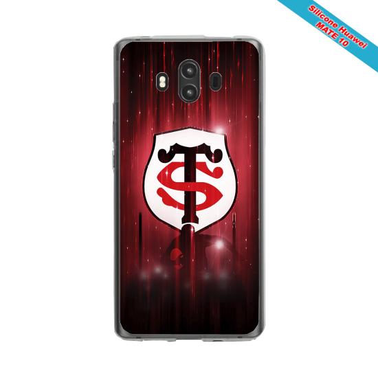 Coque silicone Galaxy A21 Fan de Rugby La Rochelle Super héro