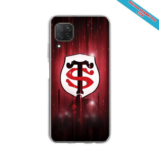 Coque silicone Galaxy M11 Fan de Rugby La Rochelle Super héro