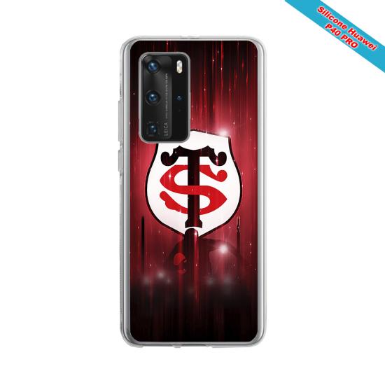 Coque silicone Galaxy M31 Fan de Rugby La Rochelle Super héro
