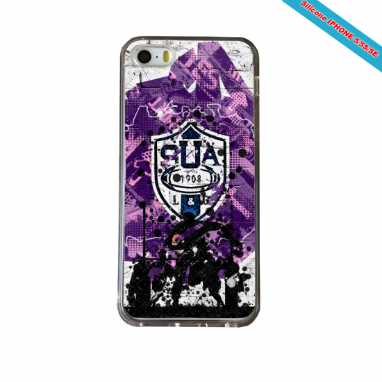 Coque Silicone Galaxy S6 Fan de Rugby La Rochelle Super héro