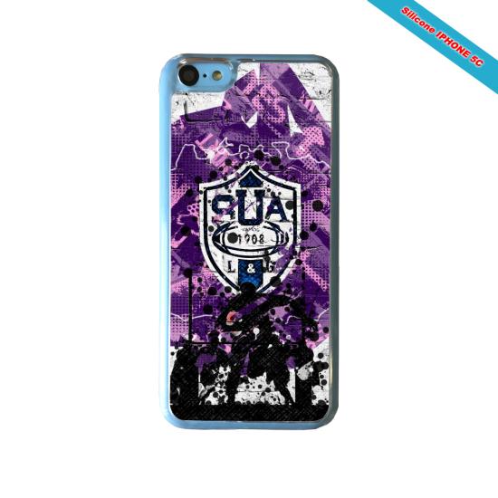Coque Silicone Galaxy S6 EDGE Fan de Rugby La Rochelle Super héro