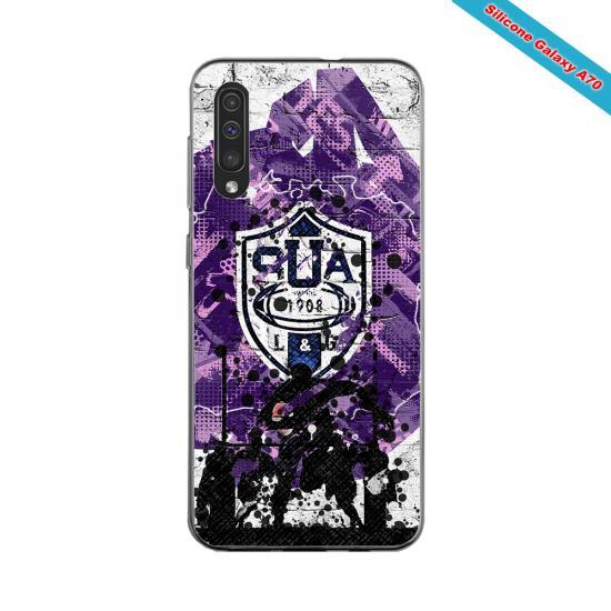 Coque silicone Huawei P9 Lite 2016 Fan de Rugby La Rochelle Super héro