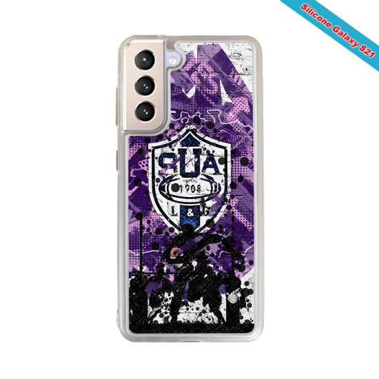 Coque silicone Galaxy A10 Fan de Rugby Toulon Super héro