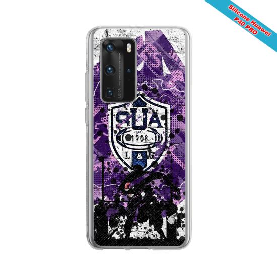 Coque Silicone Galaxy S6 EDGE Fan de Rugby Toulon Super héro