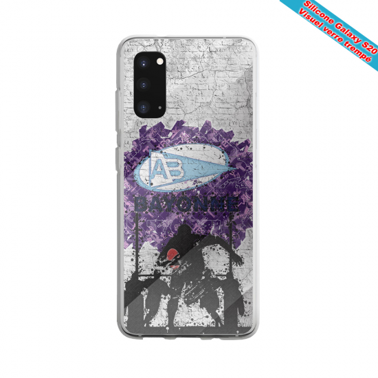 Coque silicone Galaxy A10 Fan de Rugby Toulouse Super héro