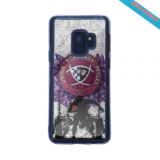 Coque silicone Iphone 11 Pro Max Fan de Rugby Agen Graffiti
