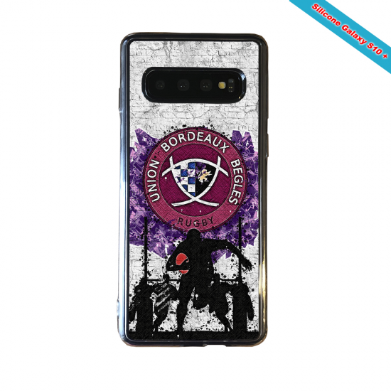 Coque silicone Galaxy A10 Fan de Rugby Agen Graffiti