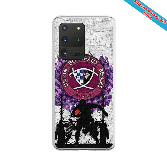 Coque silicone Galaxy A30S Fan de Rugby Agen Graffiti