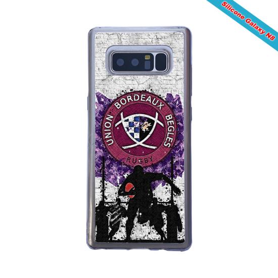 Coque silicone Galaxy A50 Fan de Rugby Agen Graffiti