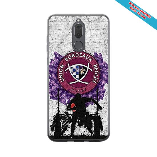 Coque silicone Galaxy J3 2016 Fan de Rugby Agen Graffiti