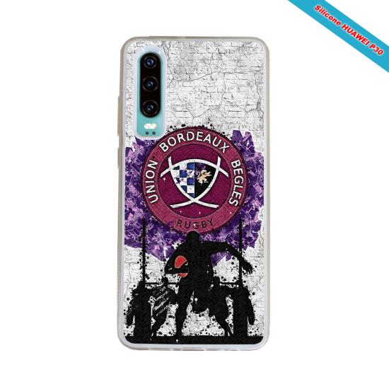 Coque Silicone Galaxy S6 EDGE Fan de Rugby Agen Graffiti