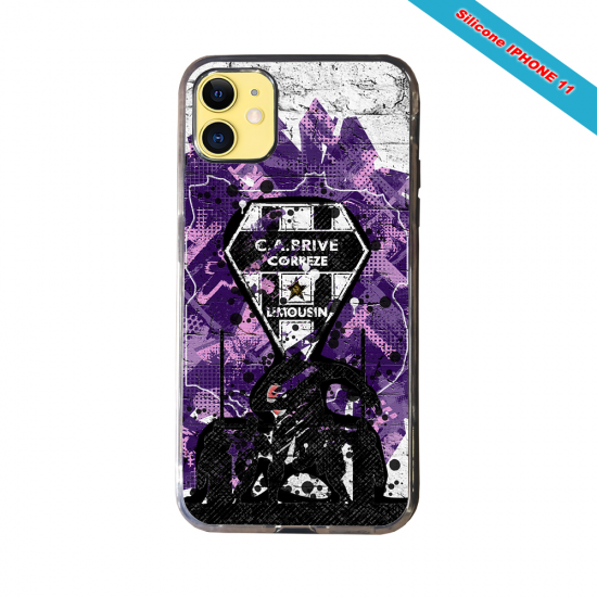 Coque Silicone Note 9 Fan de Rugby Agen Graffiti
