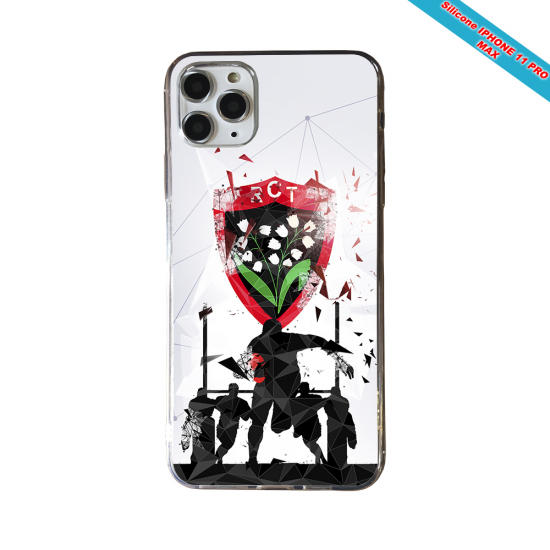 Coque silicone Iphone 11 Pro Max Fan de Rugby Bordeaux Graffiti