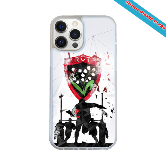 Coque silicone Iphone 12 PRO Fan de Rugby Bordeaux Graffiti