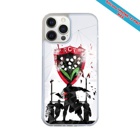 Coque silicone Iphone 12 PRO MAX Fan de Rugby Bordeaux Graffiti