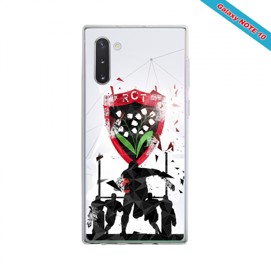 Coque Silicone Note 9 Fan de Rugby Bordeaux Graffiti
