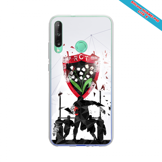 Coque silicone Huawei P40 Lite Fan de Rugby Bordeaux Graffiti