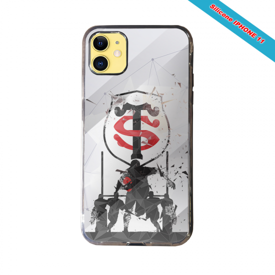 Coque silicone Iphone 11 Pro Max Fan de Rugby Brive Graffiti