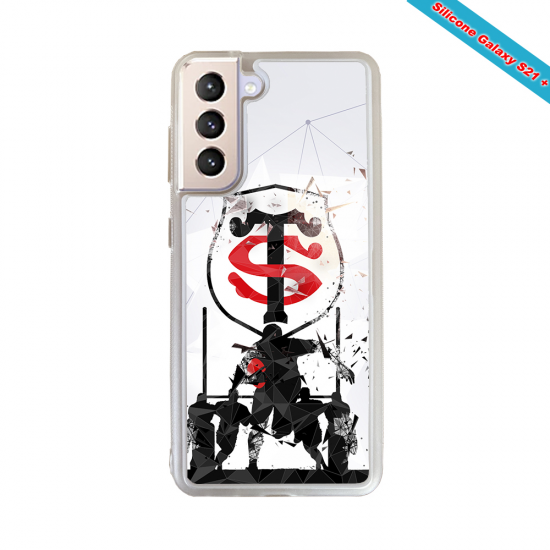 Coque Silicone Note 9 Fan de Rugby Brive Graffiti