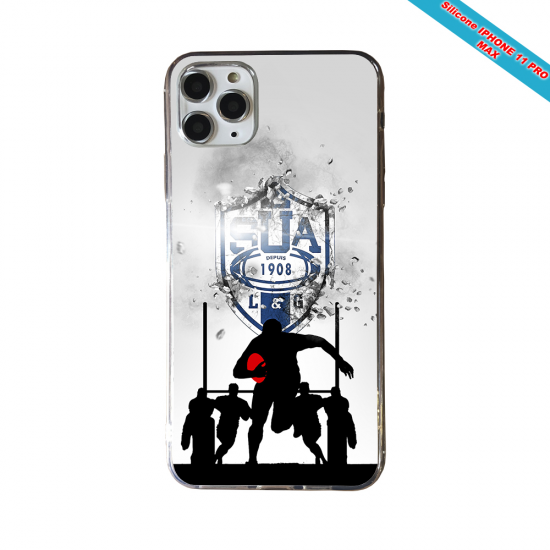 Coque silicone Galaxy A10 Fan de Rugby Castres Graffiti