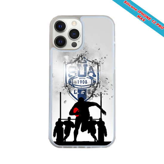 Coque silicone Galaxy A30S Fan de Rugby Castres Graffiti