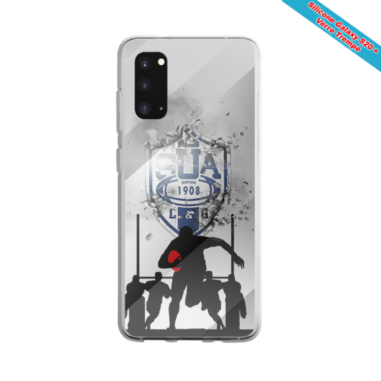 Coque Silicone Note 9 Fan de Rugby Castres Graffiti
