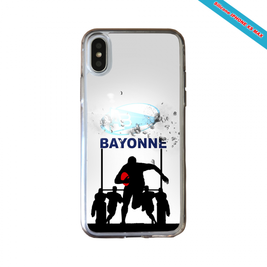 Coque silicone Iphone 12 Fan de Rugby Clermont Graffiti