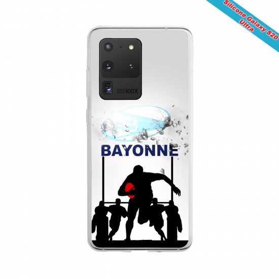 Coque silicone Huawei Mate 20 Fan de Rugby Clermont Graffiti