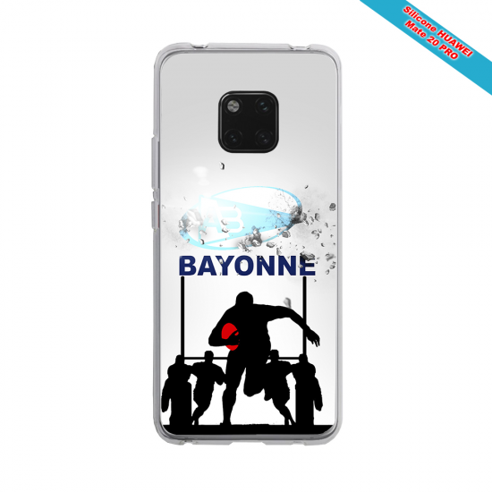 Coque silicone Huawei P10 PLUS Fan de Rugby Clermont Graffiti