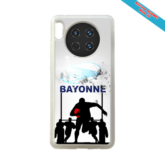 Coque silicone Huawei P20 Fan de Rugby Clermont Graffiti