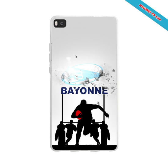 Coque silicone Huawei P20 PLUS Fan de Rugby Clermont Graffiti