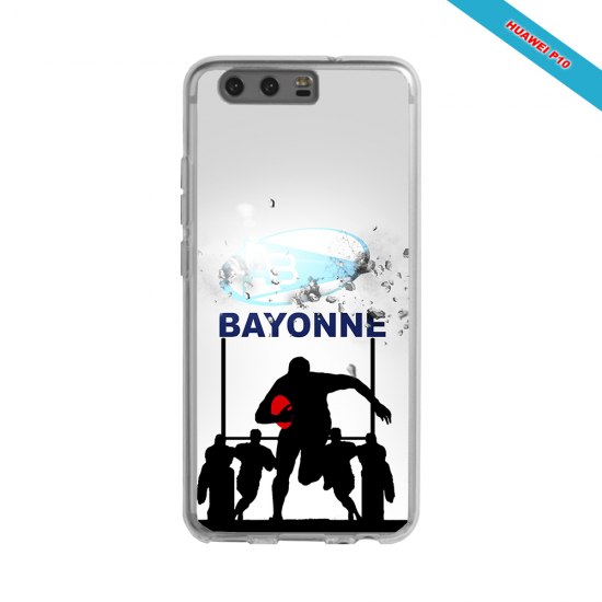 Coque silicone Huawei P30 PRO Fan de Rugby Clermont Graffiti