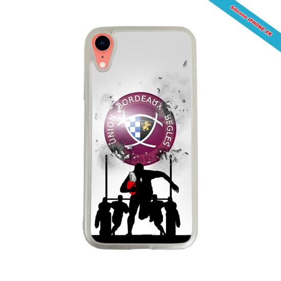 Coque silicone Iphone 12 PRO MAX Fan de Rugby Lyon Graffiti