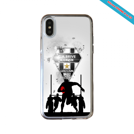 Coque silicone Galaxy A10 Fan de Rugby Montpellier Graffiti