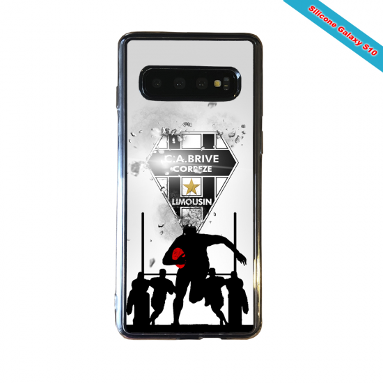 Coque silicone Huawei Mate 10 Fan de Rugby Montpellier Graffiti